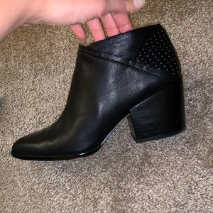 1.State black leather bootie + free shoes
